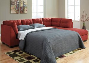 MARLO 3 PC LAF SLPR SECTIONAL RED