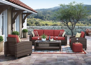 Lakeside 4 Pc. Patio Set Brown