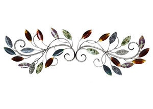 Multi Leaf Scroll Wall Decor Green