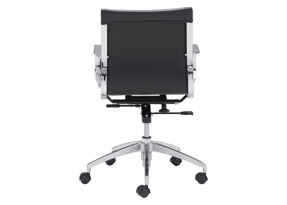 Glider Black Low Back Office Chair