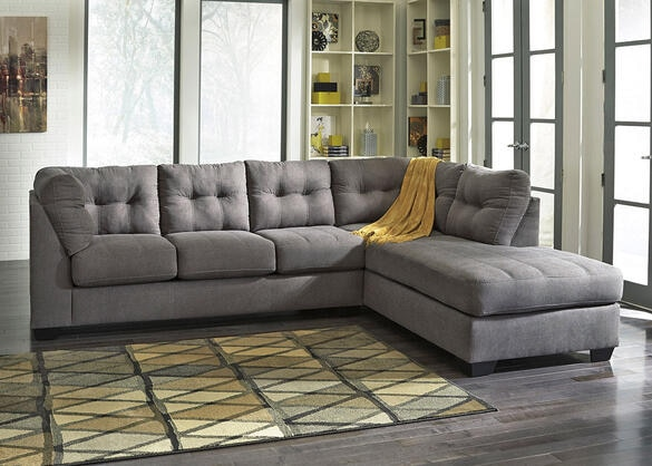 Marlo 2 Pc Laf Sectional Charcoal The Roomplace