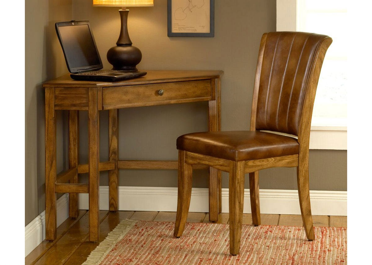 Solano Desk and Chair - Medium Oak