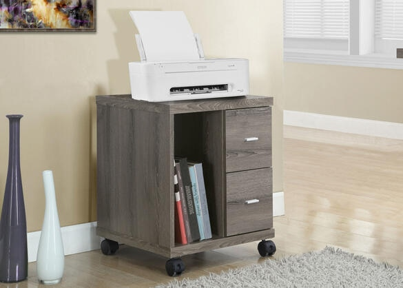 Milton Office Cabinet Taupe