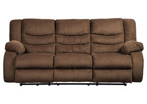 Talen Chocolate Reclining Sofa