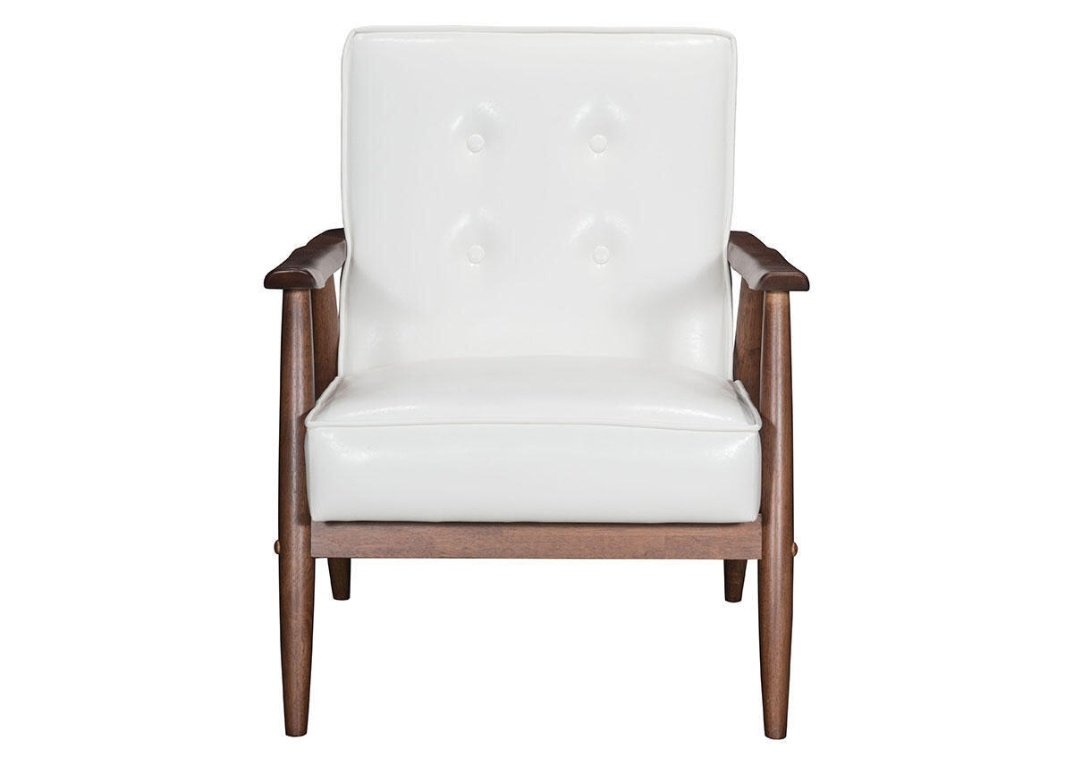 Rocky White Arm Chair