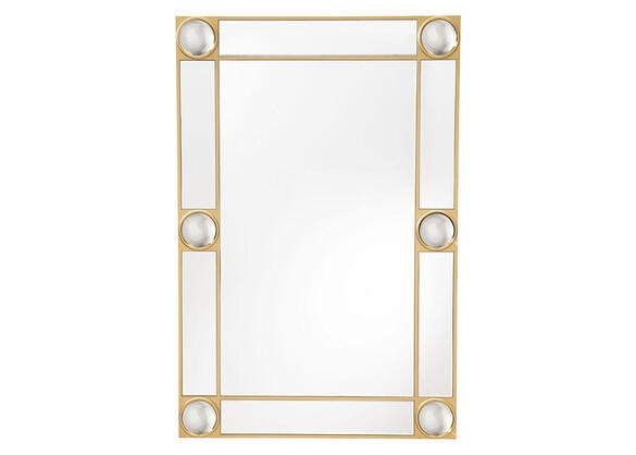 Rectangle Lucite Mirror Gray