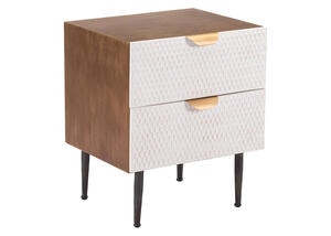Honeycomb End Table Brown