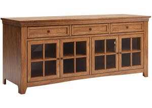 Oak Finish Console Oak