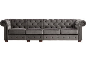 Barrington Charcoal Velvet Extra Wide Sofa