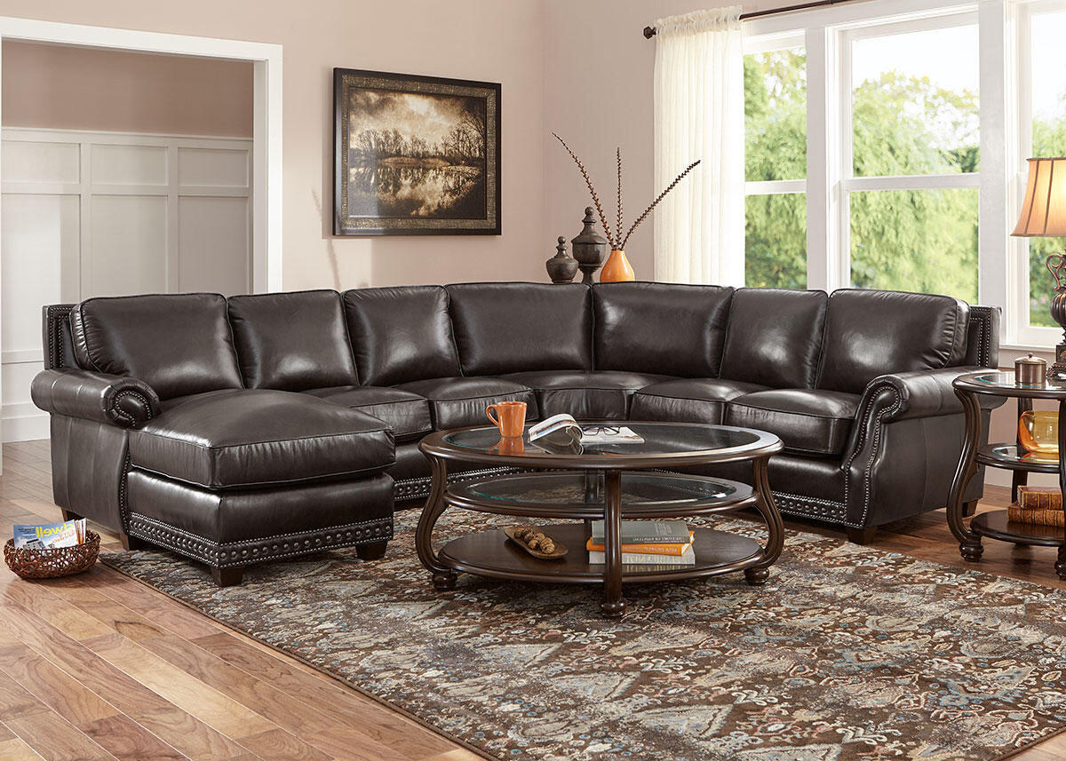 Genoa Charcoal 4 Pc. Sectional (Reverse)