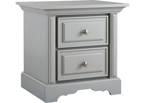 Venezia Misty Gray Nightstand by Dolce Babi