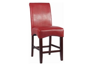 Cora Cntr Stool Red