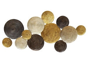 Multi Circles Wall Decor Yellow