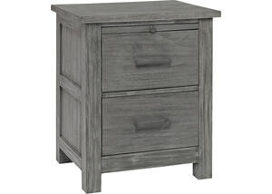 Lucca Weathered Gray Nightstand by Dolce Babi