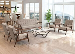 Rocky Gray 5 Pc. Living Room
