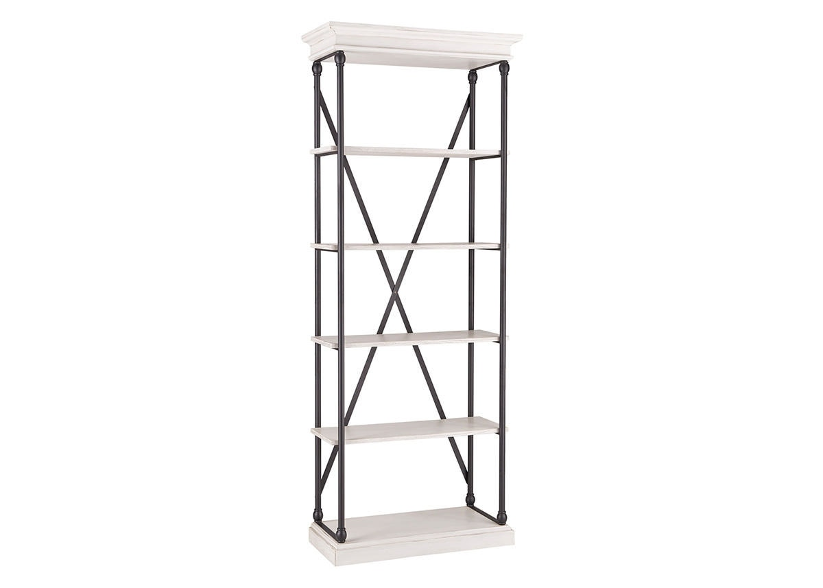 "White 33"" Bookcase Lakewood White"