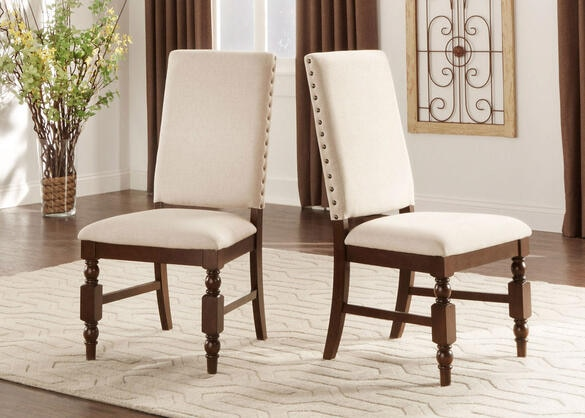 Charlotte 5 Pc. Dining Room w/Linen Chairs