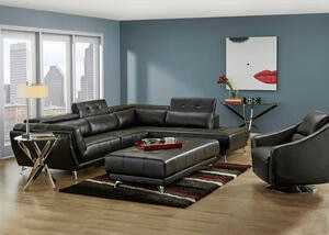 Mars Black 2 Pc. Sectional