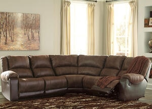 York Coffee 5 Pc. Sectional w/Two Armless Chairs