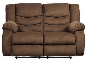 Talen Chocolate Reclining Loveseat