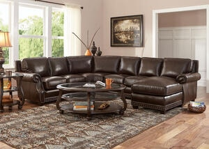 Genoa Chocolate 4 Pc. Sectional