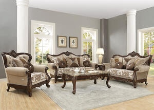 Romana 3pc Living Room Ivory