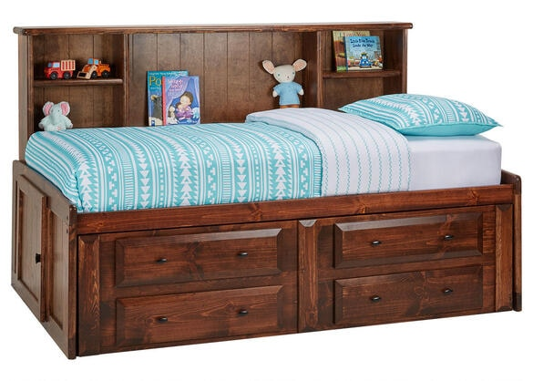 CATALINA TWIN ROOMSAVER BED CH CHESTNUT