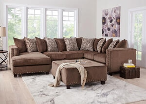 Bristol Brown 3 Pc. Sectional (Reverse)