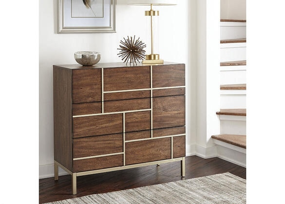 Mid-Century Modern Warm Brown Accent Cabinet by Scott Living