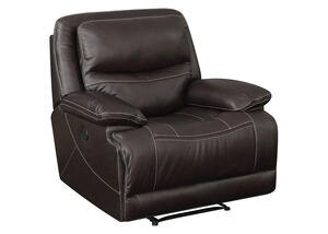 Rover Leather Power Recliner w/Power Headrest
