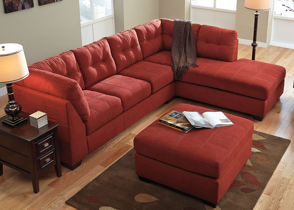 MARLO 3 PC LAF SECTIONAL RED