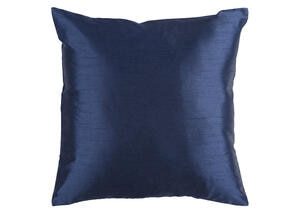 Solid Luxe Throw Pillow Navy