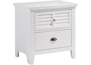 Malibu White Nightstand