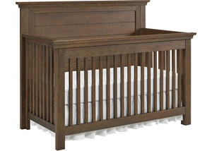 Lucca Weathered Brown Flat Top Convertible Crib by Dolce Babi