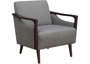 Mid-Century Modern Gray Accent Chair by Scott Living