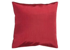 Solid Luxe Throw Pillow Red