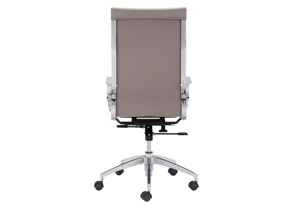 Glider Taupe Hi Back Office Chair