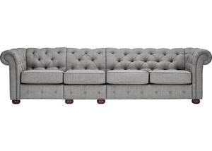 Barrington Gray Linen Extra Wide Sofa