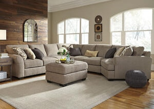 Savoy 5pc Laf Sectional W/cuddler Gray