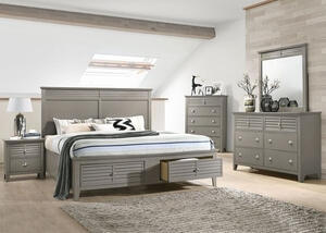 Malibu Gray 8 Pc. Full Bedroom