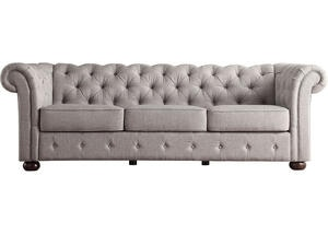 Barrington Gray Linen Sofa