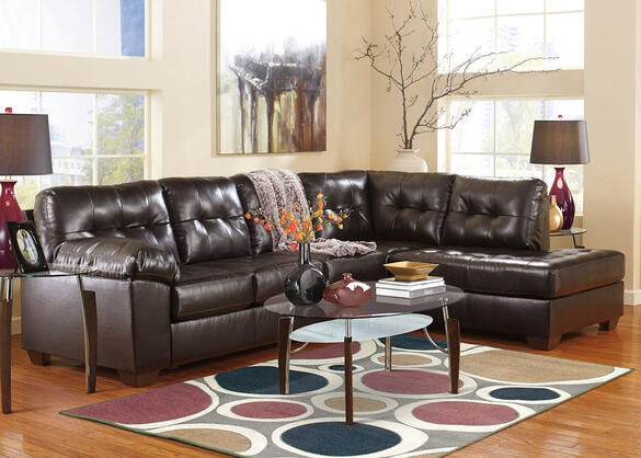 MAXIM 2 PC LAF SECTIONAL CHOCOLATE