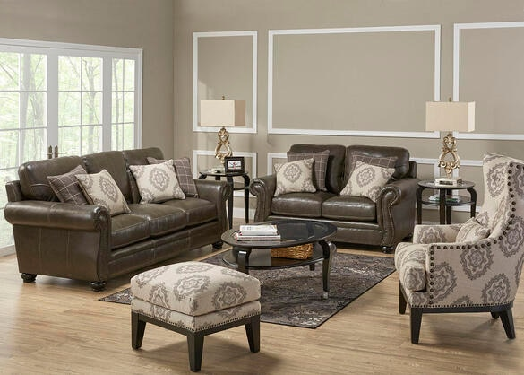 Isabella 3 Pc L R W Accent Chair The Roomplace