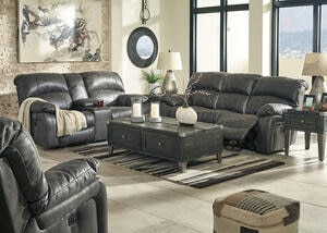 Arcadia Steel 3 Pc. Power Living Room w/Power Headrests