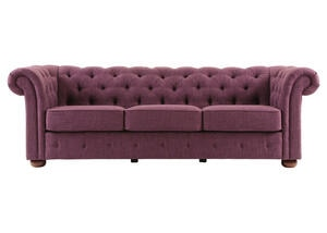Barrington Purple Linen Sofa