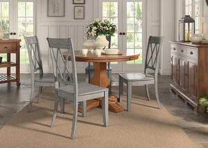 Lakewood Gray 5 Pc. Dinette w/Double X Back Chairs