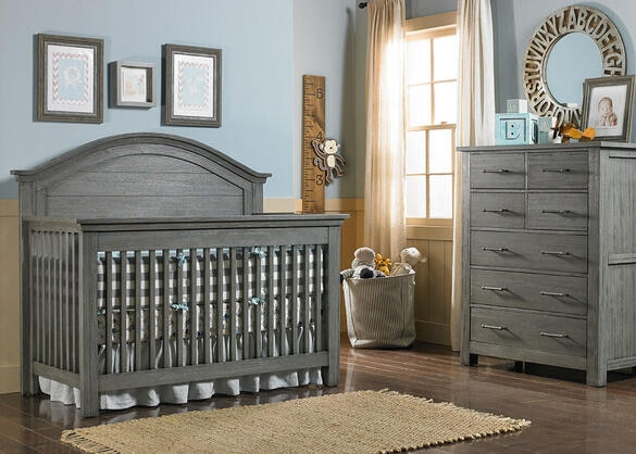 Lucca Weathered Gray Full Panel Convertible Crib by Dolce Babi