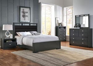 Metro 5 Pc. Queen Upholstered Bedroom