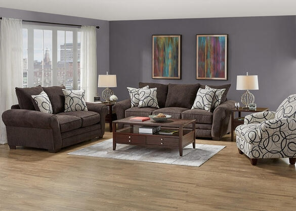 Peyton 3 Pc. Living Room w/ Accent Chair and Sleeper Sofa
