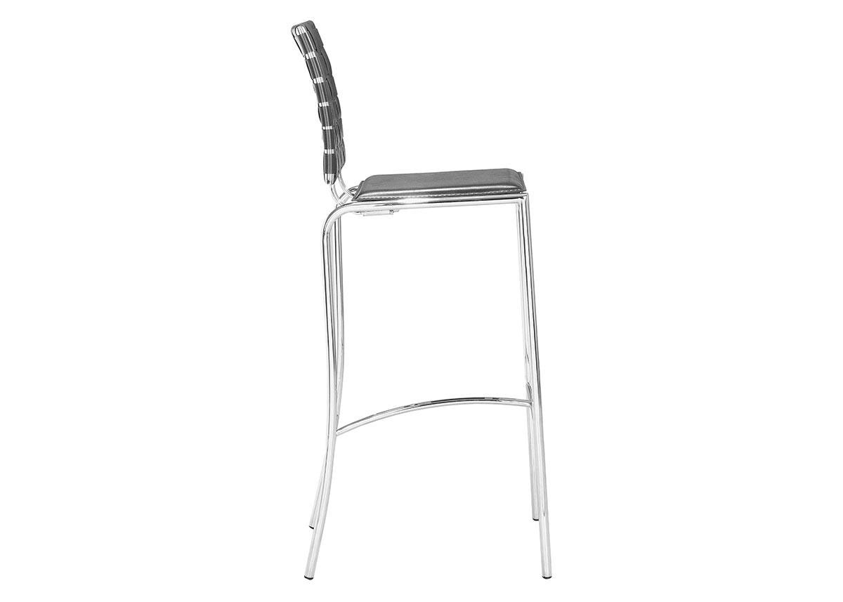 "Criss Cross 41"" Black Barstool"